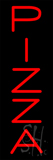 Red Vertical Pizza Neon Sign