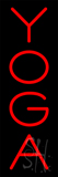 Vertical Red Yoga Neon Sign