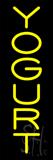 Vertical Yellow Yogurt Neon Sign