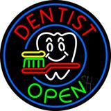 Round Dentist Open Neon Sign