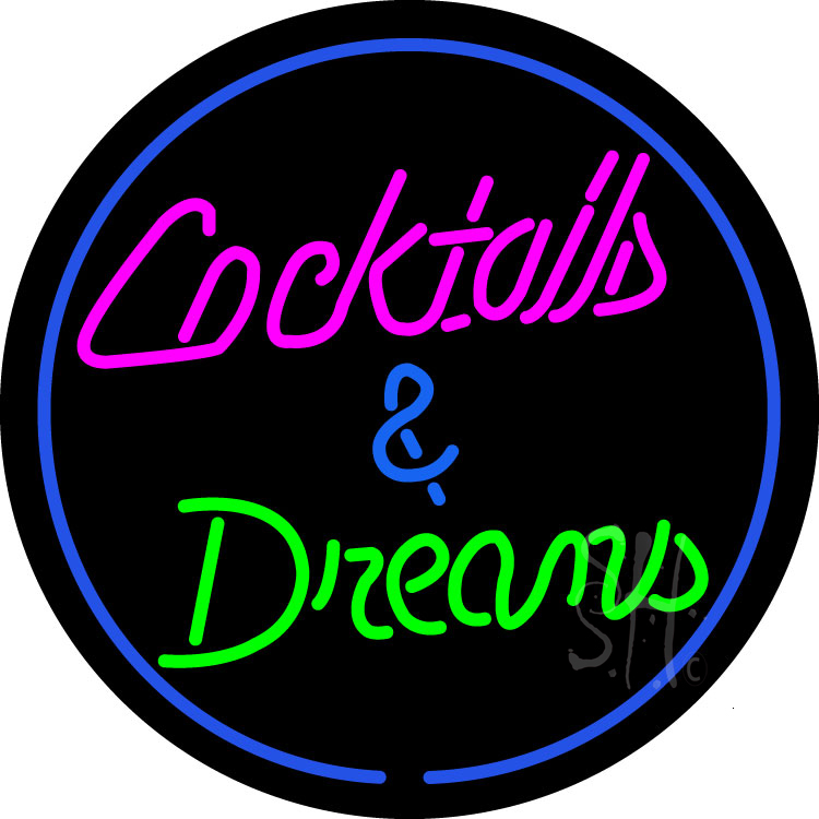 Cocktail & Dreams Neon Sign | Cocktail Neon Signs - Every