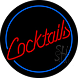 Circular Cocktail Neon Sign