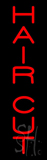 Vertical Red Hair Cut Neon Sign