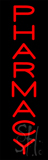 Vertical Red Pharmacy Neon Sign