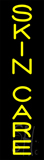Yellow Vertical Skin Care Neon Sign