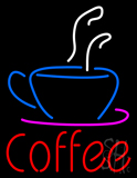 Red Coffee with Coffee Cup LED Neon Sign