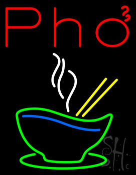 Pho Bowl Neon Sign