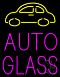 Auto Glass with Logo Neon Sign