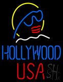 Hollywood USA Neon Sign