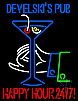 Develskis Pub Neon Sign