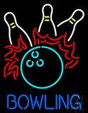 Bowling Fire Neon Sign