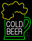 Cold Beer with Mug Neon Sign