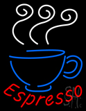 Espresso Coffee Logo Neon Sign