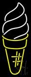 Vertical Ice Cream Logo Neon Sign