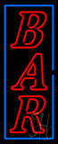 Vertical Double Stroke Bar Neon Sign