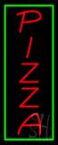 VerticalPizza with Green Border Neon Sign
