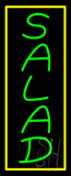 Green Salad with Yellow Border Neon Sign