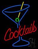 Cocktails and Martini Glass Neon Sign
