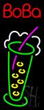 Boba Logo Vertical Neon Sign