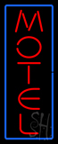 Vertical Motel Neon Sign