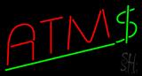 Red ATM Dollar Logo Neon Sign