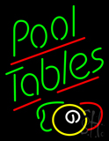 Pool Tables with Ball Neon Sign