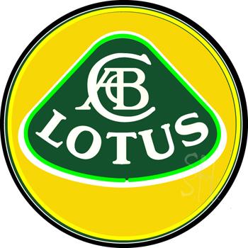 Lotus Porcelain Neon Sign