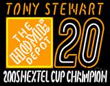 Tony Stewart 20 Nascar Neon Sign