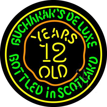 Buchanans 12 Year Old Neon Sign