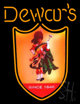 Dewars Scotchman Neon Sign
