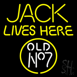 Jack Live Here Old No7 Neon Sign