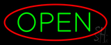 Open Oval Red Green Neon Sign