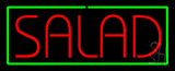 Red Salad with Green Border Neon Sign