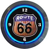 Rt 66 15 Inch Neon Clock