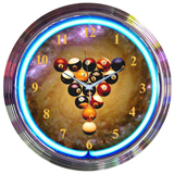 Billiard Spaceballs 15 Inch Neon Clock