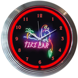 Tiki Bar 15 Inch Neon Clock