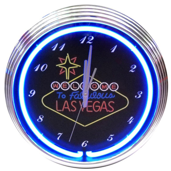 Las Vegas 15 Inch Neon Clock