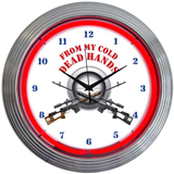From My Cold Dead Hands Firearms 15 Inch Neon Clock