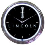 Lincoln 15 Inch Neon Clock