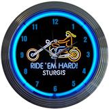 Motorcycle Sturgis 15 Inch Neon Clock