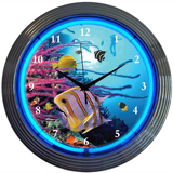 Aquarium 15 Inch Neon Clock