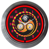 Billiards 1 8 9 15 Inch Neon Clock