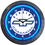 Genuine Chevy 15 Inch Neon Clock