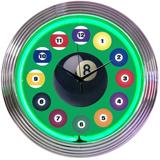Mini Billiard ball 15 Inch Neon Clock