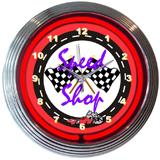 Speed Shop 15 Inch Neon Clock