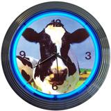 Cow 15 Inch Neon Clock