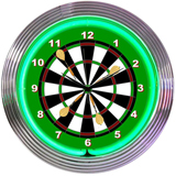 Darts 15 Inch Neon Clock