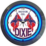 Dixie Motor Oil 15 Inch Neon Clock