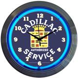 CADILLAC SERVICE 15 Inch Neon Clock