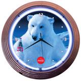 COCA-COLA POLAR BEAR 15 Inch Neon Clock